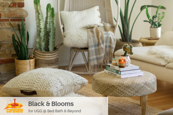 Carusele Influencer Marketing - Black and Blooms at Bed Bath and Beyond