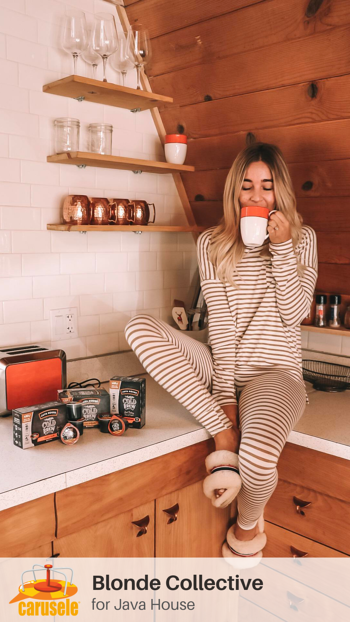 Carusele Influencer Marketing - Blonde Collective for Java House - Carusele