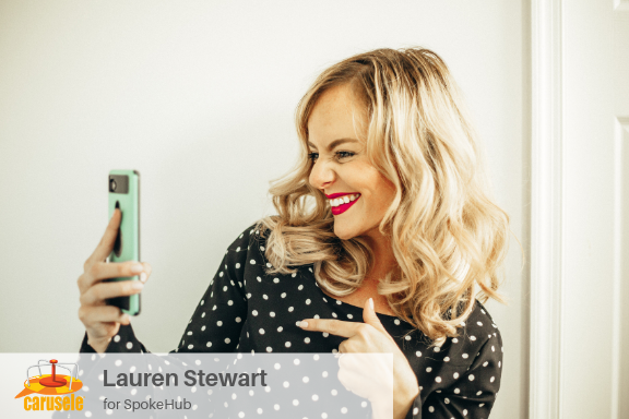 Carusele Influencer Marketing - Lauren Stewart for SpokeHub