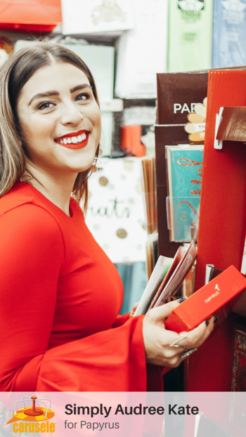 Carusele Influencer Marketing - Simply Audree Kate for Papyrus