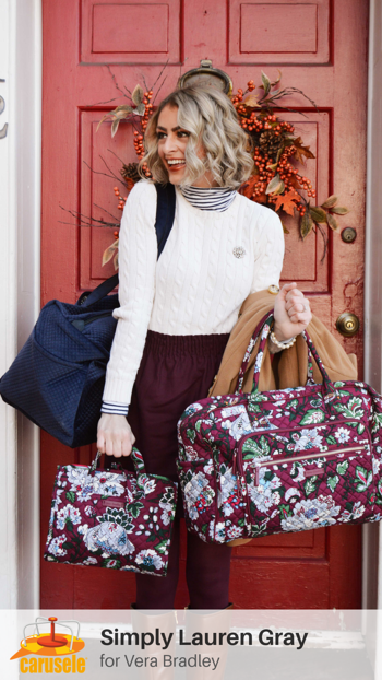 Carusele Influencer Marketing - Simply Lauren Gray for Vera Bradley