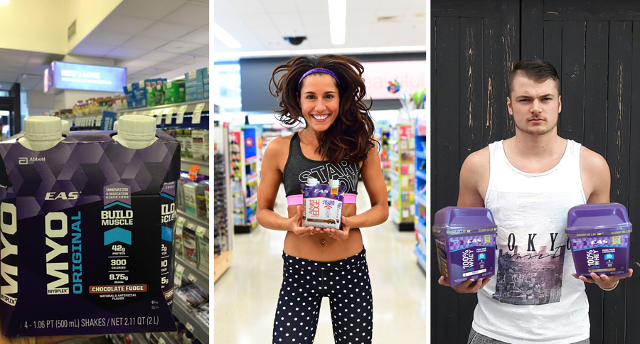 Influencer social shops for EAS Sports Nutrition Health Products
