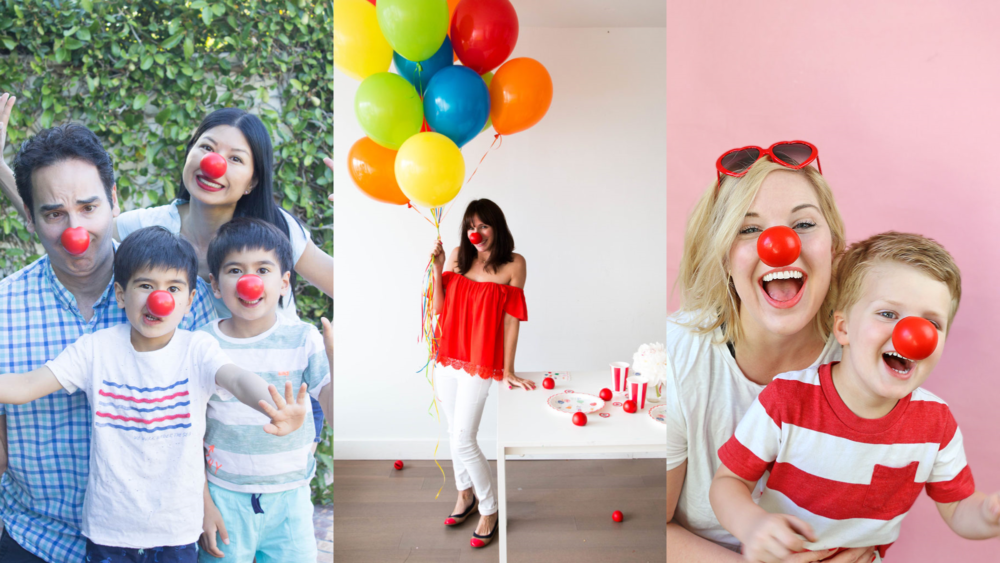 Some of our Carusele influencers showing how to get into the #RedNose Day spirit!