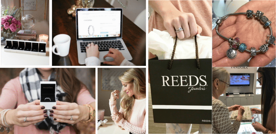 Carusele Influencers illustrating path to purchase (both in-store and online) for Reeds Jewelers