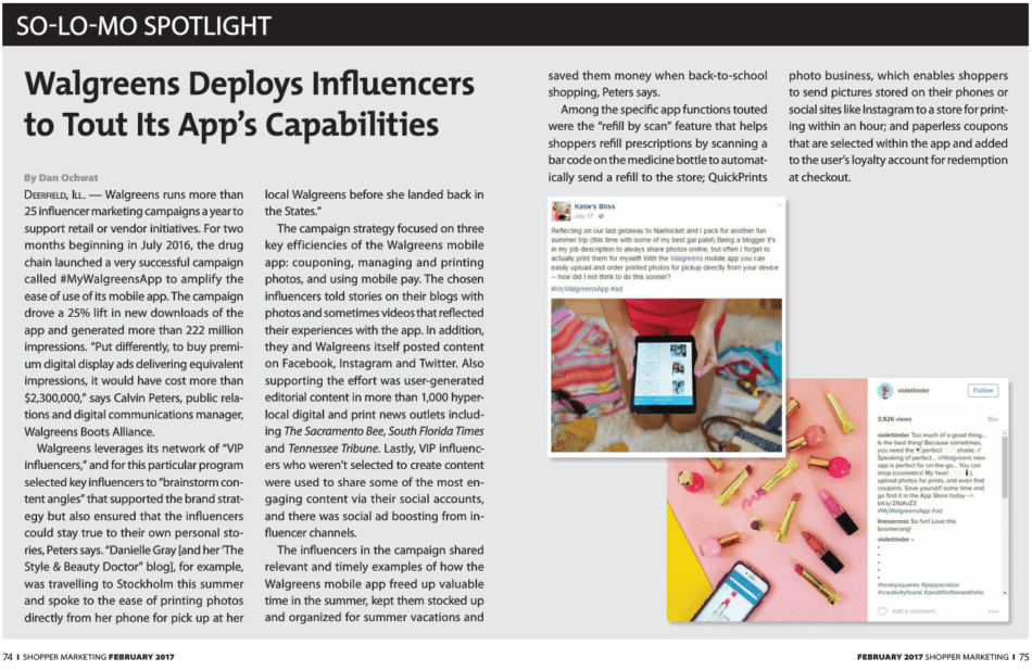 Shopper Marketing article for WAG Mobile App