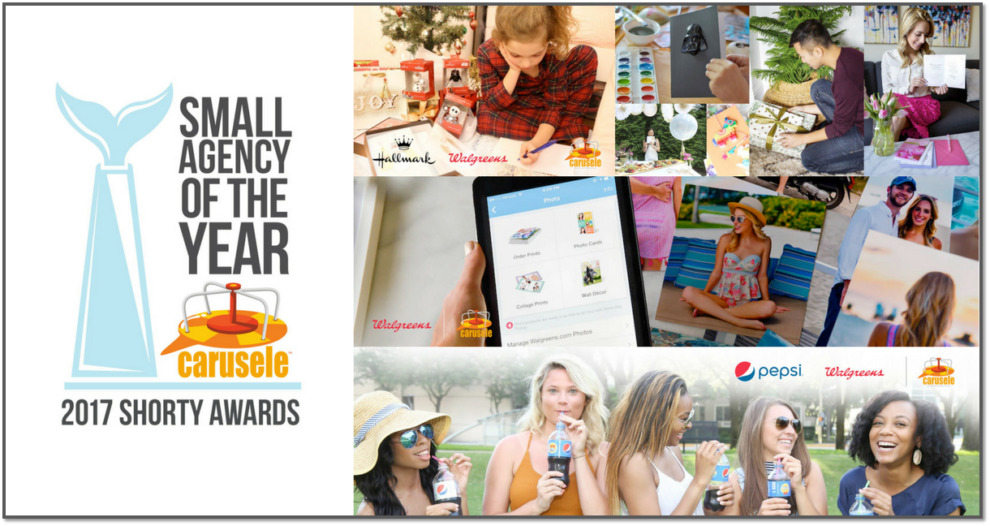 Carusele produced award-winning campaigns for Hallmark, Walgreens Mobile App and Pepsi for the Shorty Awards