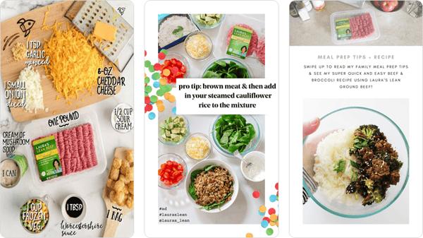 Laura's Lean Influencer Instagram Stories Content
