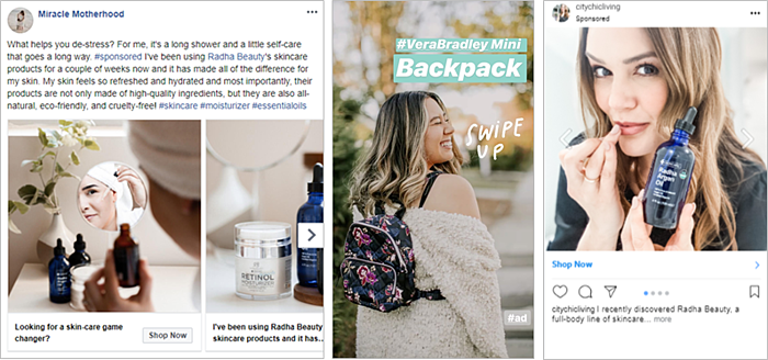Example Content from Carusele Influencer Campaigns